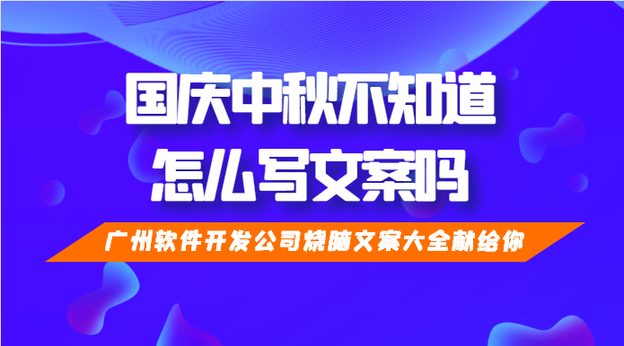 广州软件开发公司烧脑文案大全